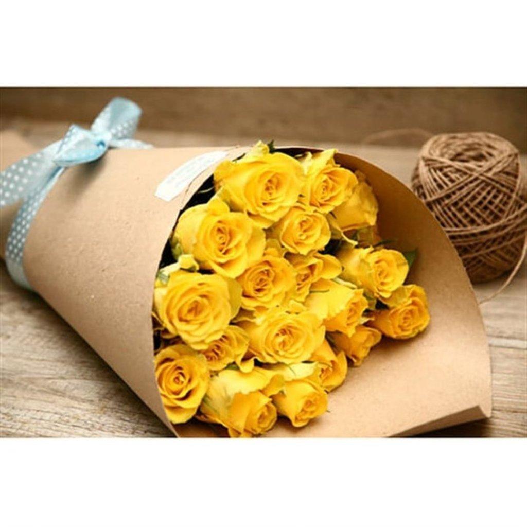 19 желтых роз в Доставка Радости
