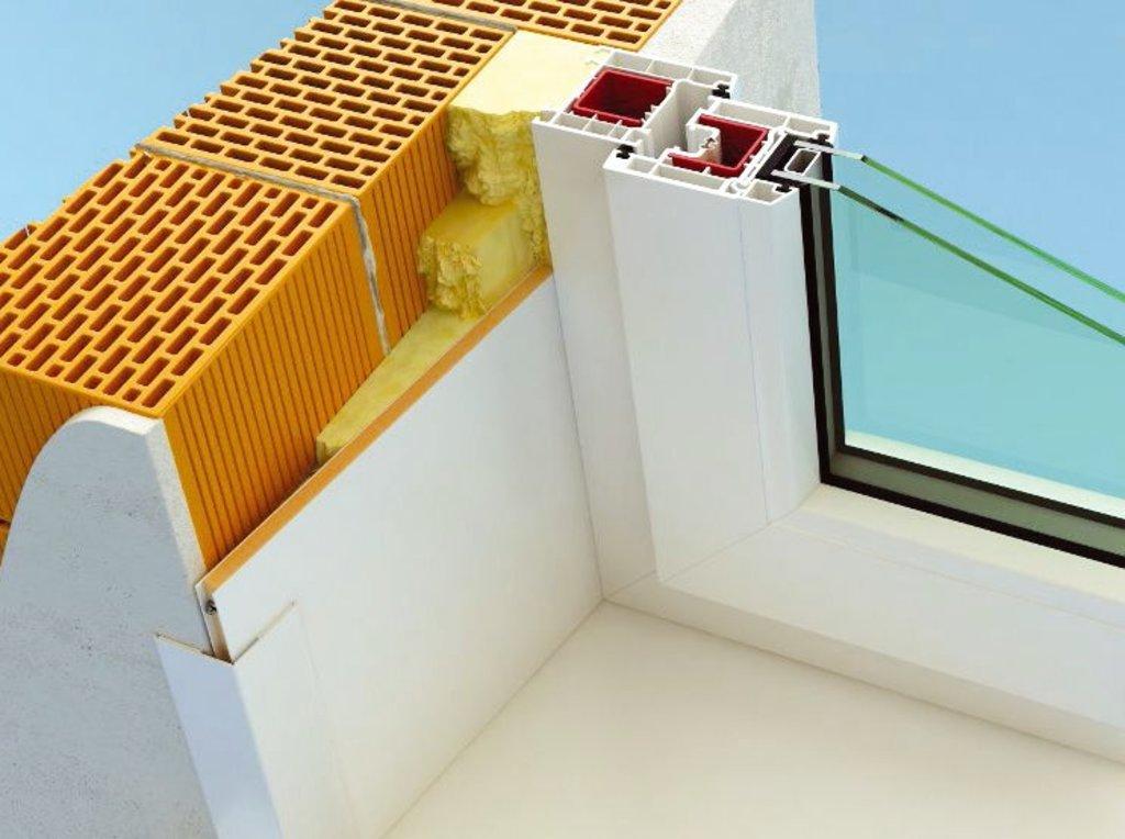 Утепленные внутренние откосы на окна: Утепленные внутренние откосы на окно (балконный блок) размером 2060Х2150 в СтройПрофиль