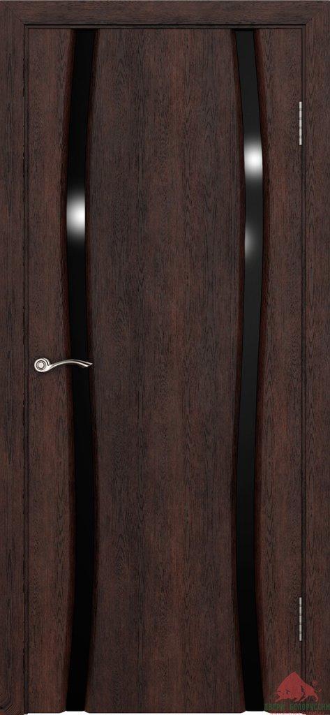 Двери Белоруссии экошпон: Плаза-2 (Нанофлекс тёмный орех) в STEKLOMASTER