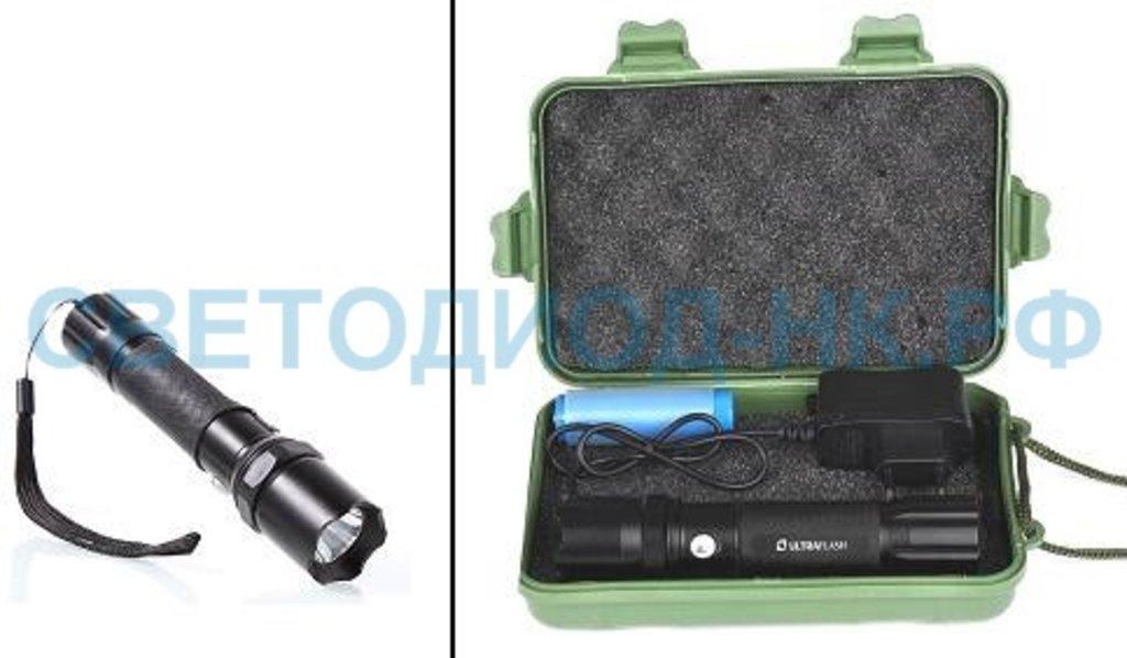 Светодиодные фонари, пушлайты: Ultraflash фонарь ручной E145 (1x18650) 1св/д 1W (80lm),черн/металл, 3 реж., фокус, з/у 220V, бокс в СВЕТОВОД