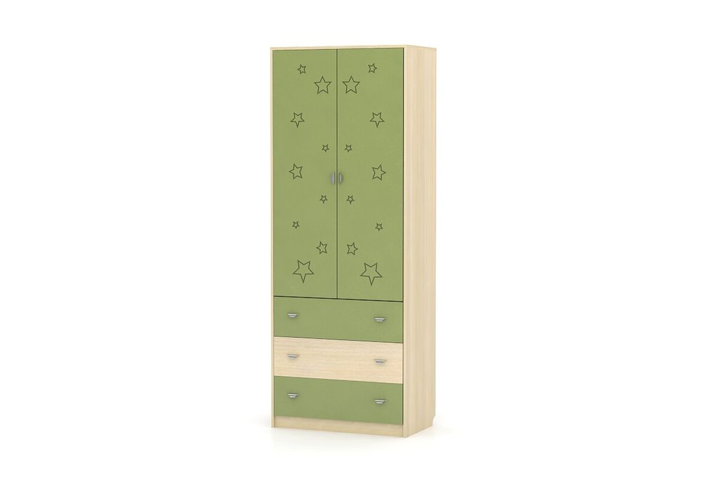 Детские шкафы и стеллажи: Шкаф-комод Денди Звёздочка МДФ в Стильная мебель