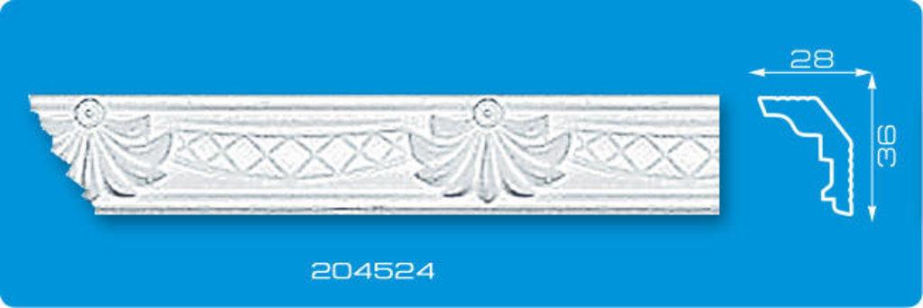 Плинтуса потолочные: Плинтус потолочный ФОРМАТ 204524 инжекционный длина 2м в Мир Потолков