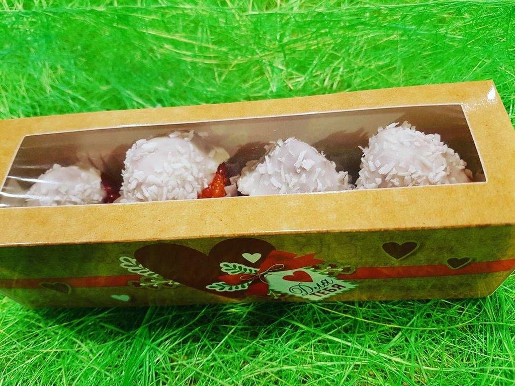 ВСЕ БУКЕТЫ: Валентинка из клубники 4 шт. в Fruit Art