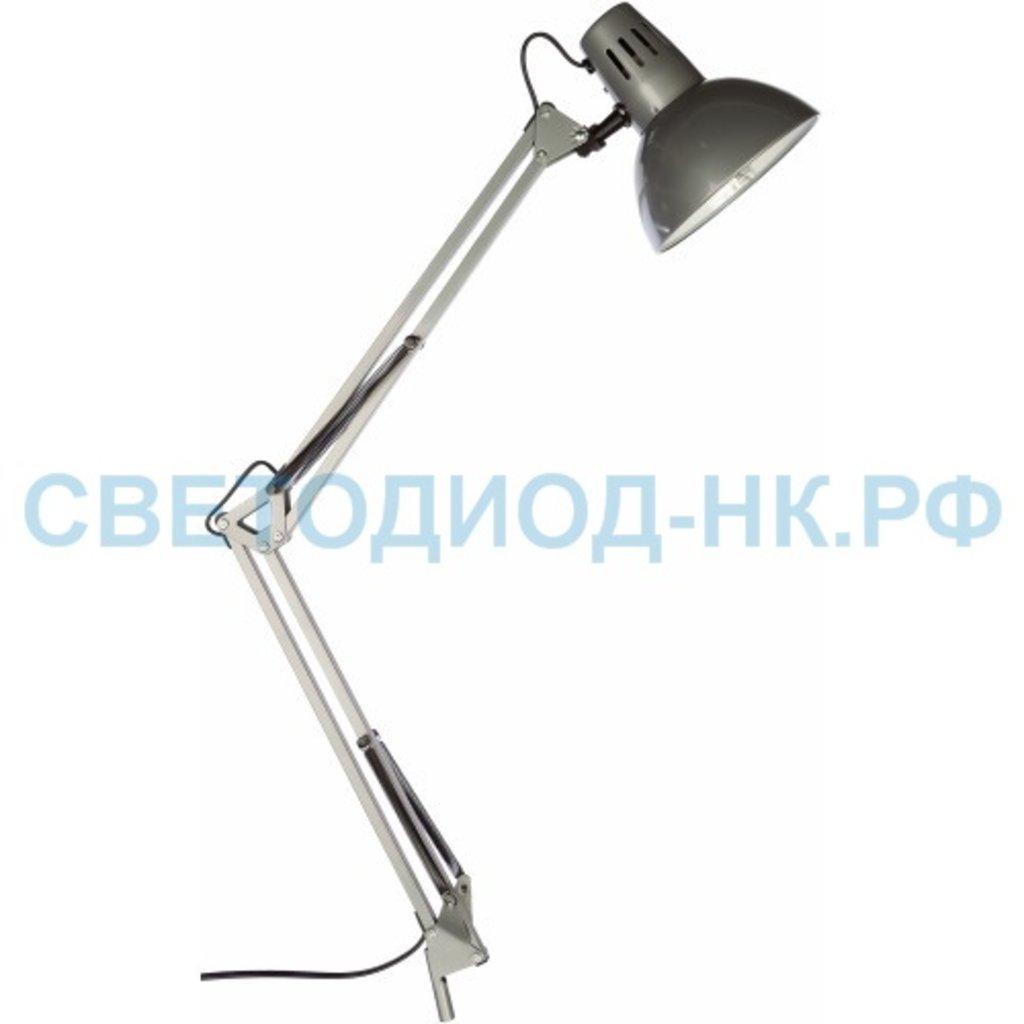 Настольные лампы, ночники: Светильник настольный под лампу CHC-13C на струбцине 60Вт Е27 серебро In Home в СВЕТОВОД