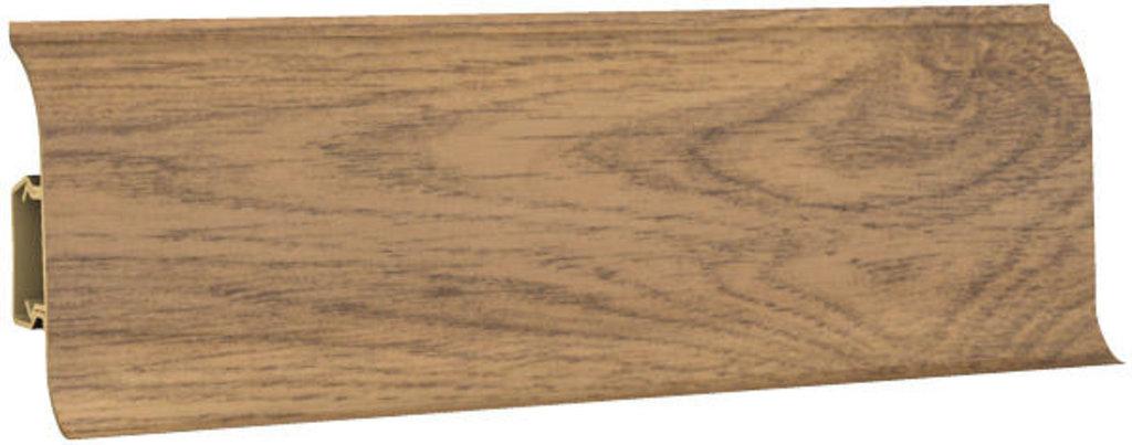 Плинтуса напольные: Плинтус напольный 60 ДП МК полуматовый 6060 дуб мадрид в Мир Потолков