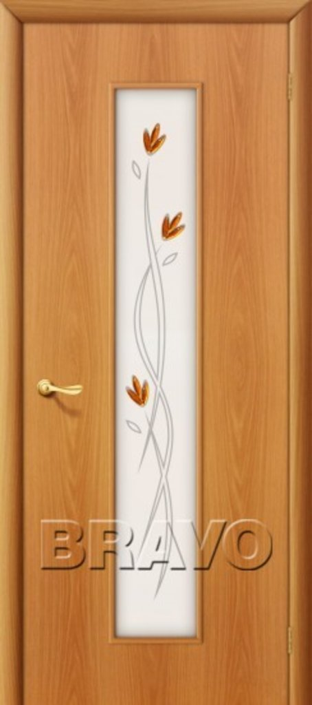 Двери ламинированные BRAVO: 22Х Л-12 (МиланОрех) в STEKLOMASTER