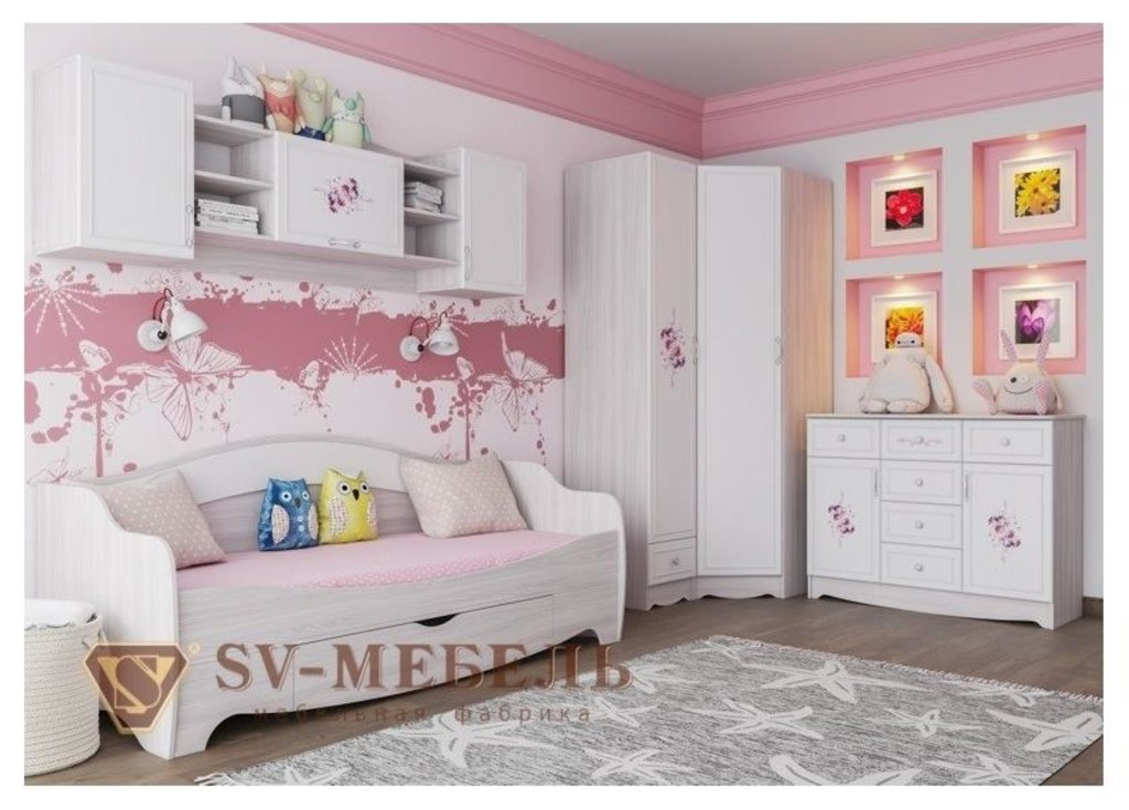 Мебель для детской Акварель 1: Полка навесная Акварель 1 в Диван Плюс