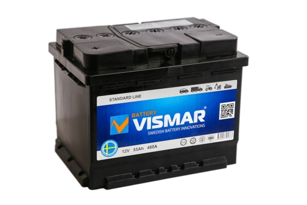Vismar: Аккумулятор VISMAR 6СТ-55 в БазаАКБ