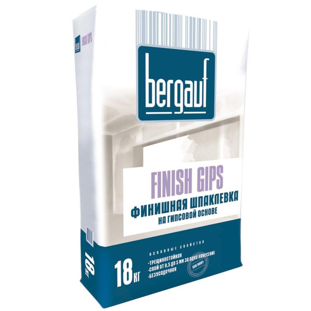 Сухие смеси Бергауф: Шпаклевка финишная на гипс.основе 18 кг Finish Gips Bergauf в База строительных материалов ЯИК