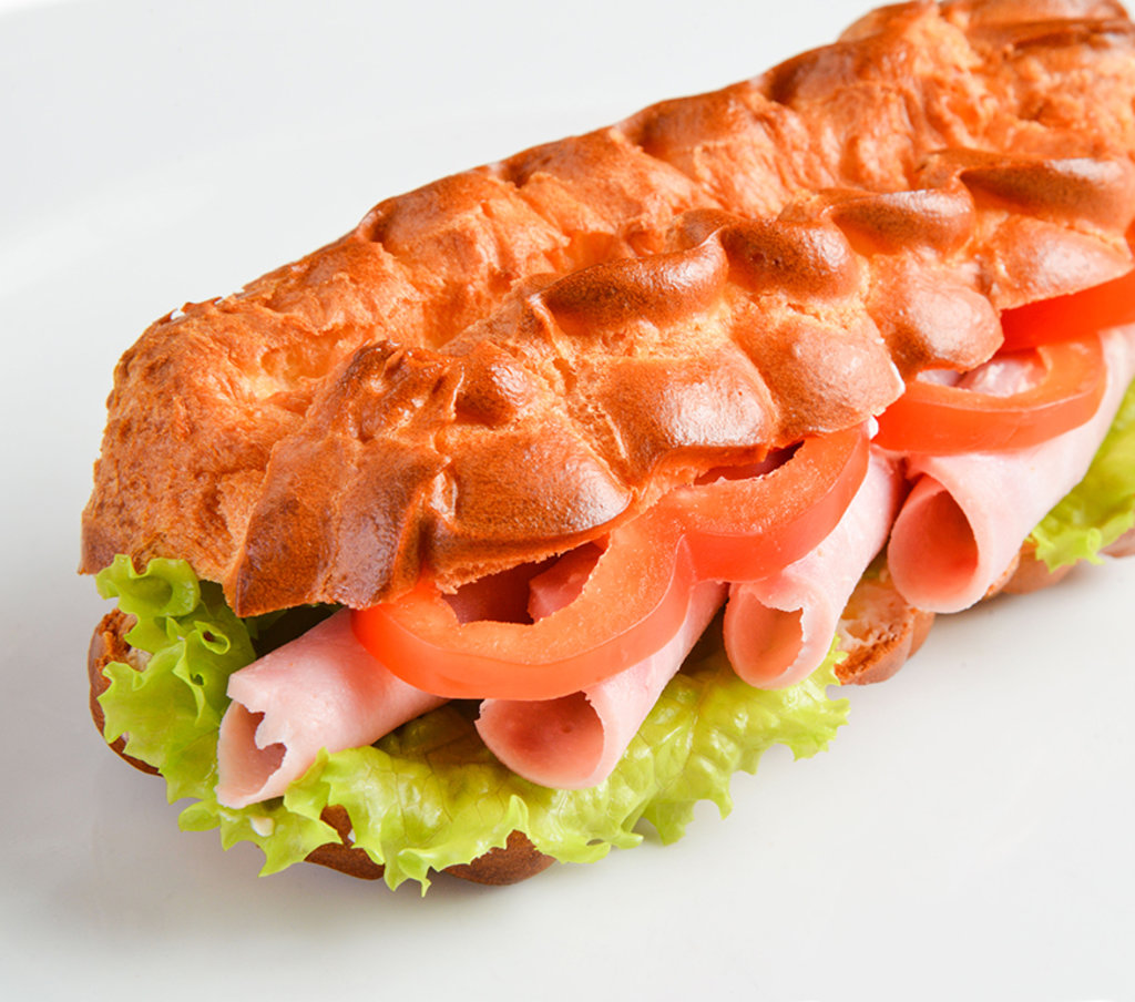 Горячее: Эклер-сэндвич с ветчиной в Провиант
