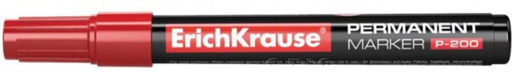 Канцтовары: Маркер перманентный Erich Krause 0,8-2,2 мм., красный в ОргСервис+