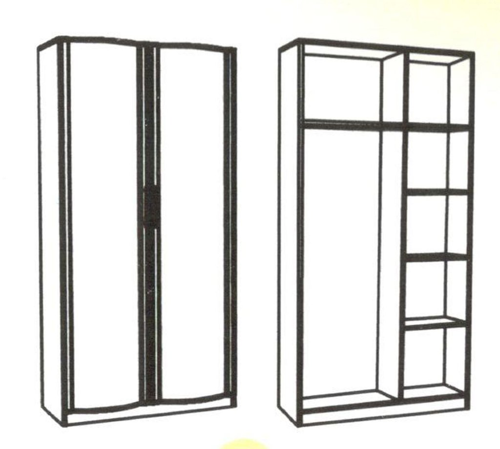 Шкафы для одежды и белья: Шкаф для одежды Кристина 1 в Стильная мебель