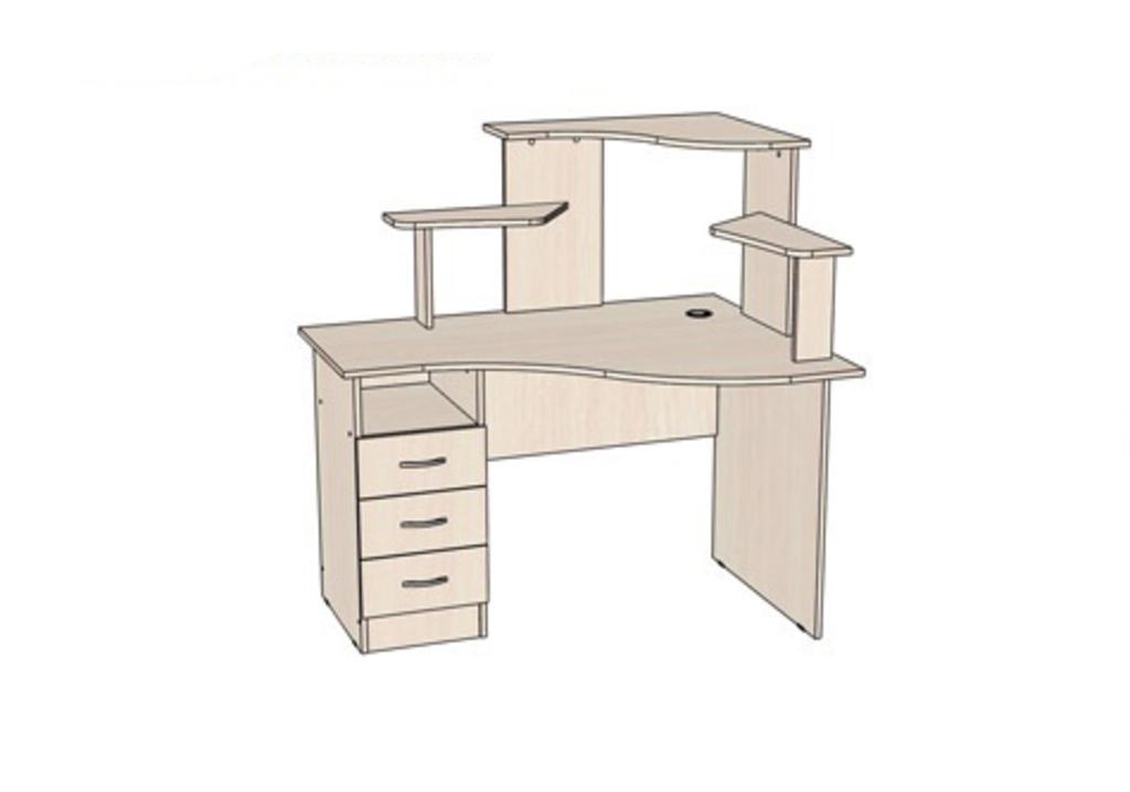 Компьютерные столы: Стол компьютерный Школьник R (Линаура) в Стильная мебель