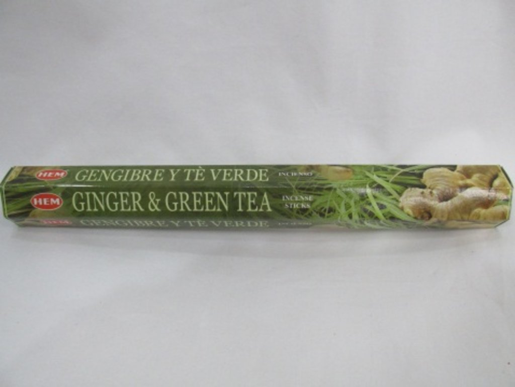 Благовония: HEM Hexa GINGER GREEN TEA Имбирь-Зеленый чай в Шамбала, индийская лавка