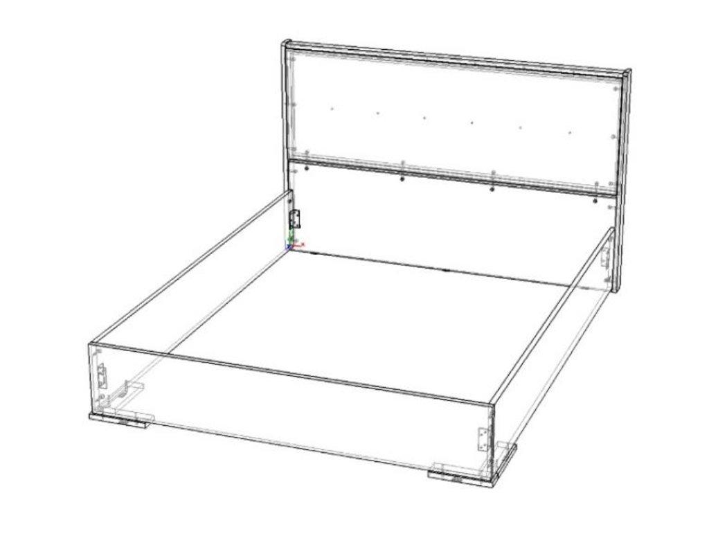 Мебель для спальни Луиза (венге / белый глянец): Кровать двуспальная Луиза (венге / белый глянец) в Диван Плюс