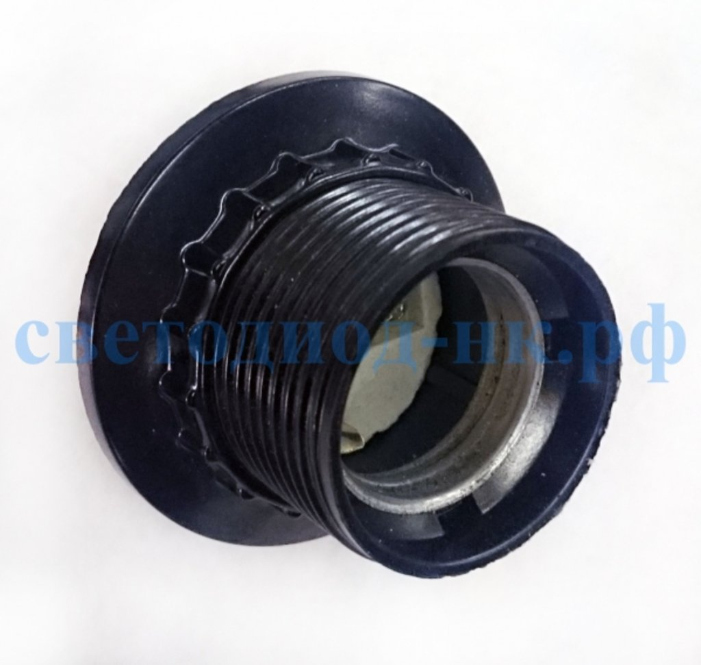 Патроны для ламп: Патрон карболитовый с кольцом Е27 черный в СВЕТОВОД
