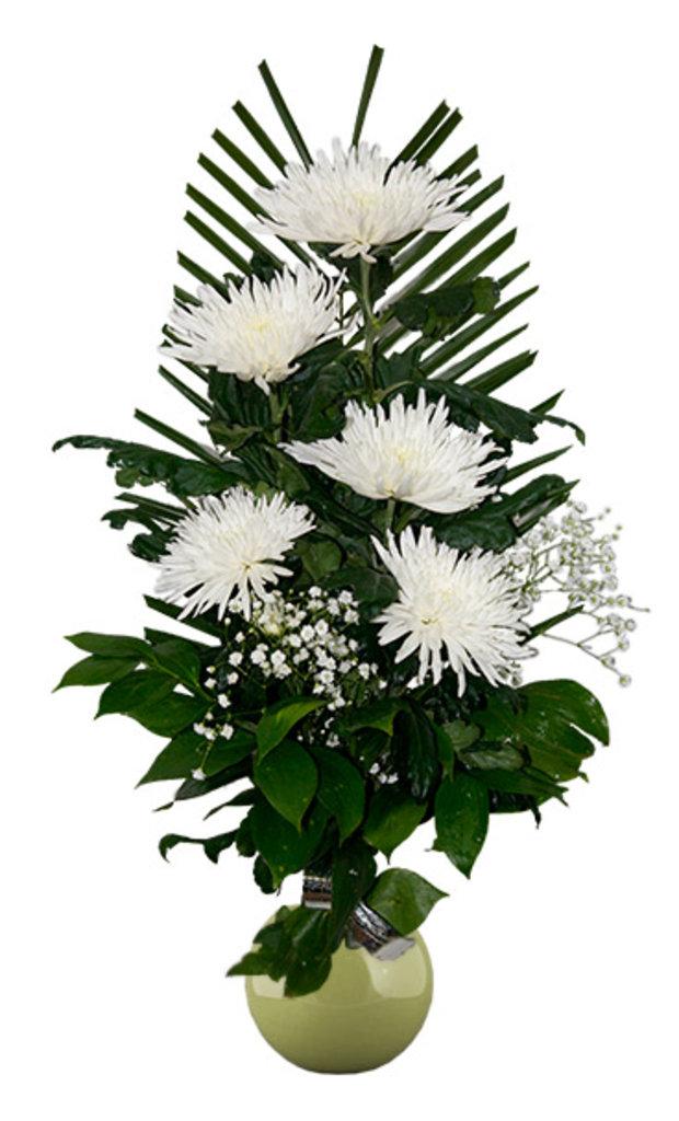 """Букеты и композиции из живых цветов: Букет """"5 хризантем"""" в Цветы доставка"""