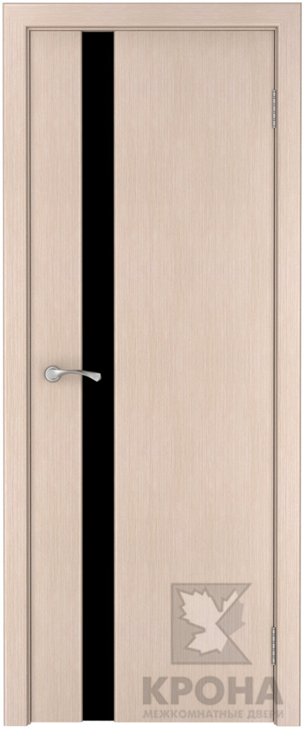 Двери Крона от 3 650 руб.: Фабрика Крона. Серия с узким стеклом триплекс. Модель ЛАУРА. в Двери в Тюмени, межкомнатные двери, входные двери
