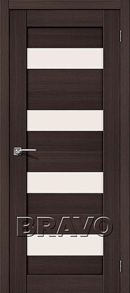 Двери экошпон BRAVO: Порта-23 Wenge Veralinga в STEKLOMASTER