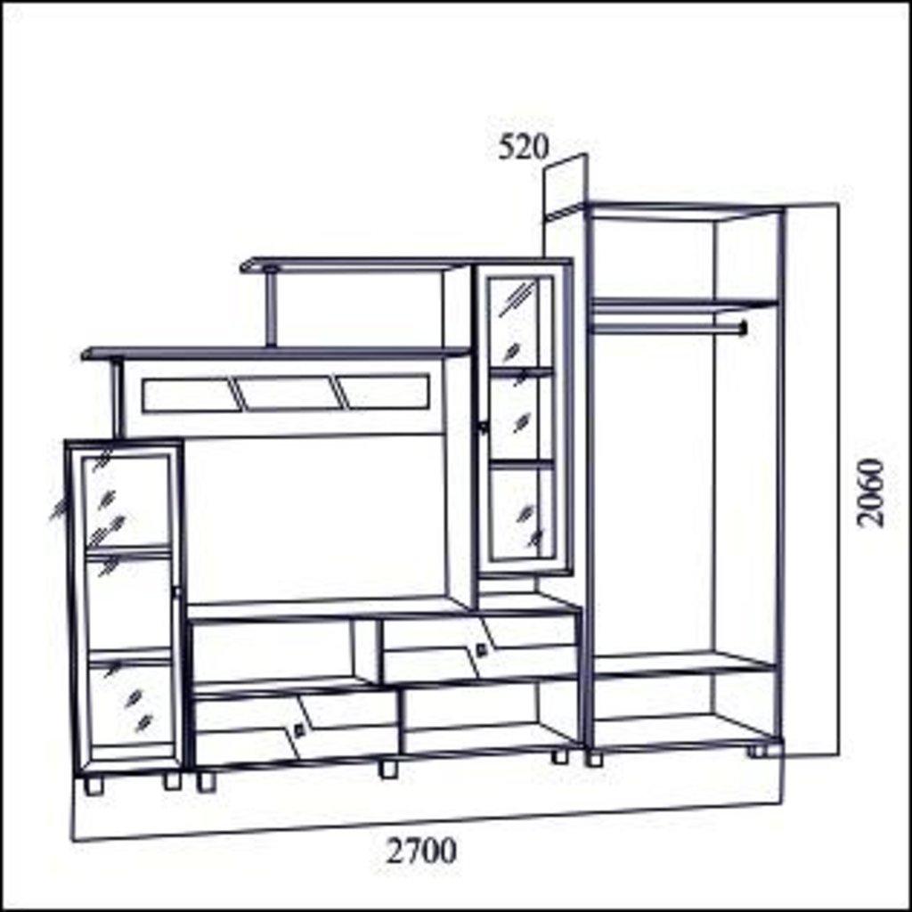 Мебель для гостиной Нота-9: Мебель для гостиной Нота-9 в Диван Плюс