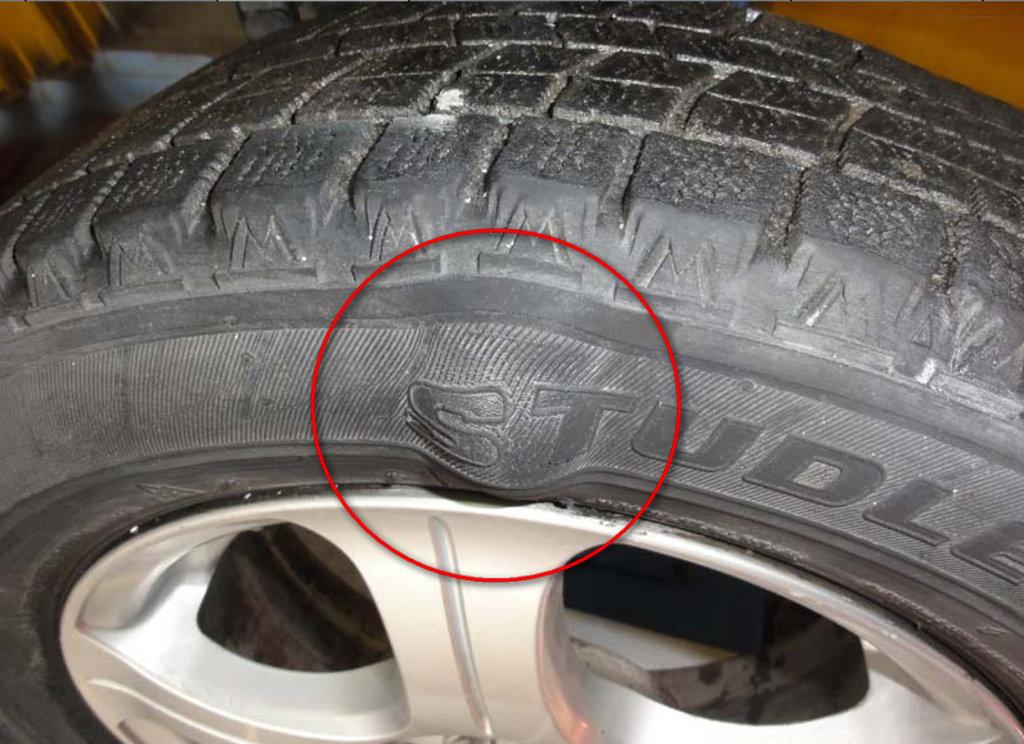 Автосервис: Устранение грыжи на шине в Автосервис Help Auto