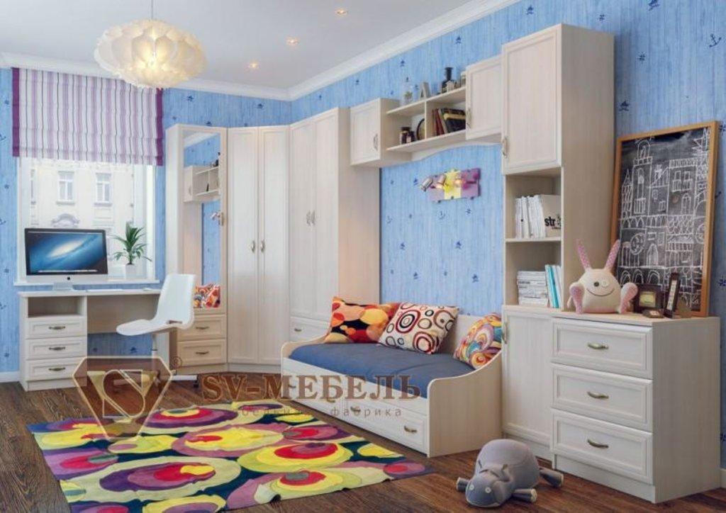 Мебель для детской Вега: Пенал со стеклом Вега ДМ-05 в Диван Плюс