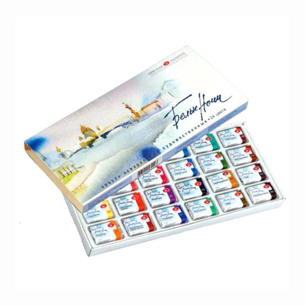 """Краски: Акварель """"Белые ночи"""" 24 цвета в картонной упаковке в Палитра"""