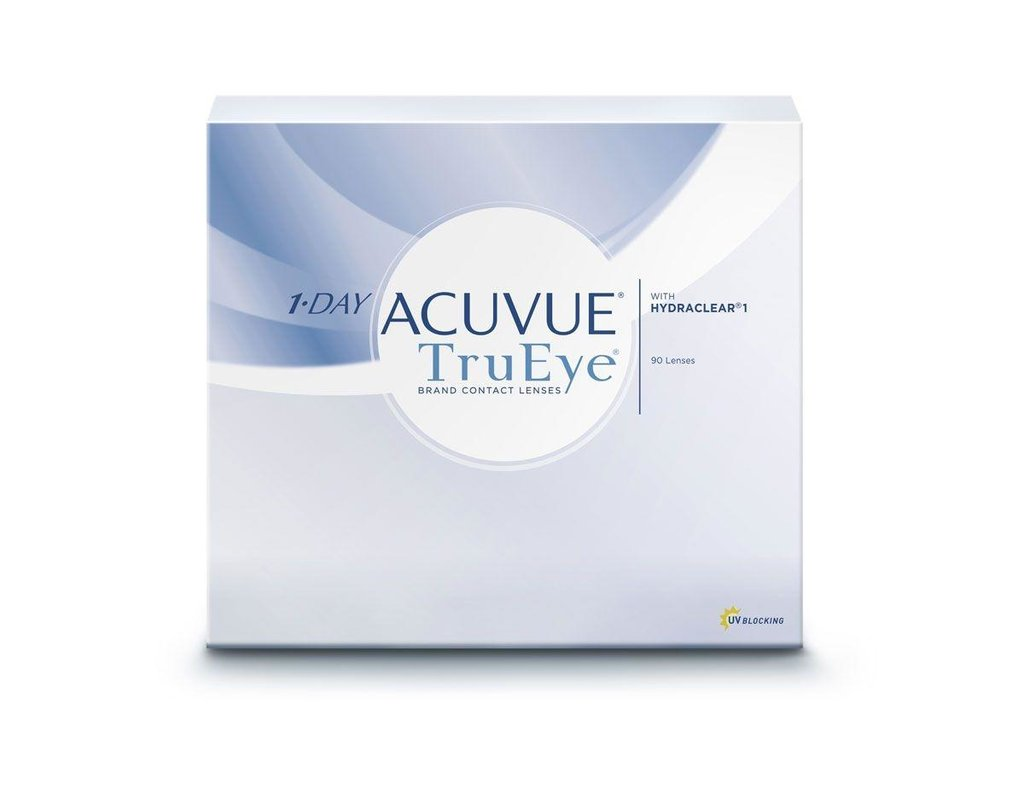 Контактные линзы: Контактные линзы 1-Day Acuvue TruEye (90 шт. / 8.5) Johnson & Johnson в Лорнет
