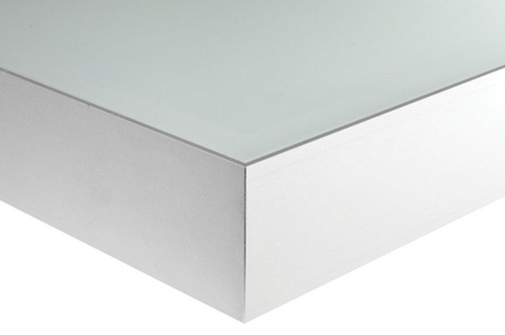 """Мебельная фурнитура """"НОВИНКИ"""": Полка-светильник LED Just-50, 450х200 мм, 4Вт (330Лм), 4200 K, отделка алюминий анодированный + стекло в МебельСтрой"""