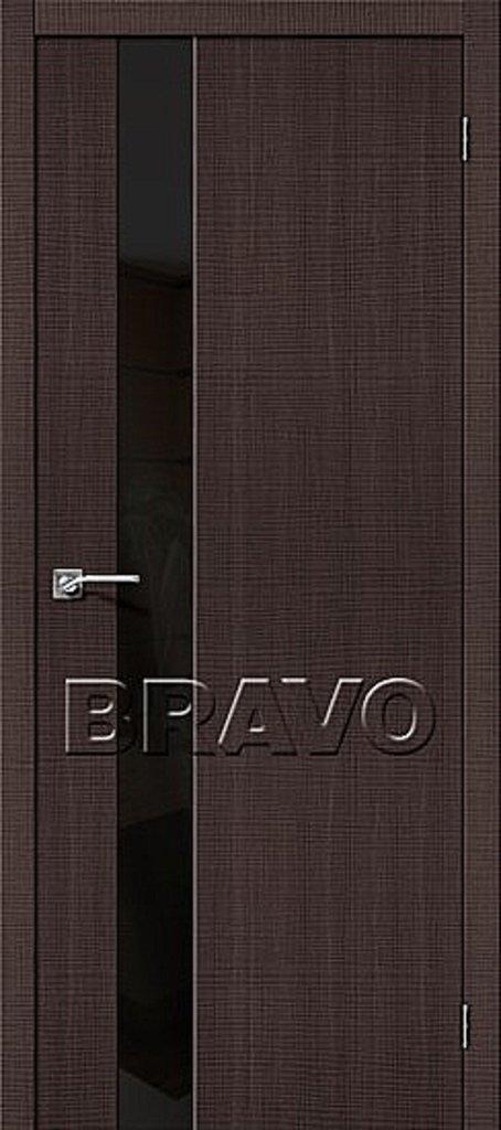 Двери экошпон BRAVO: Порта-51 BS Wenge Crosscut в STEKLOMASTER