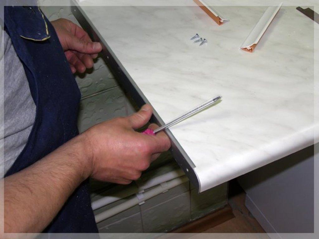 Ремонт мебели: Замена кухонной столешницы в Атлас-мебель
