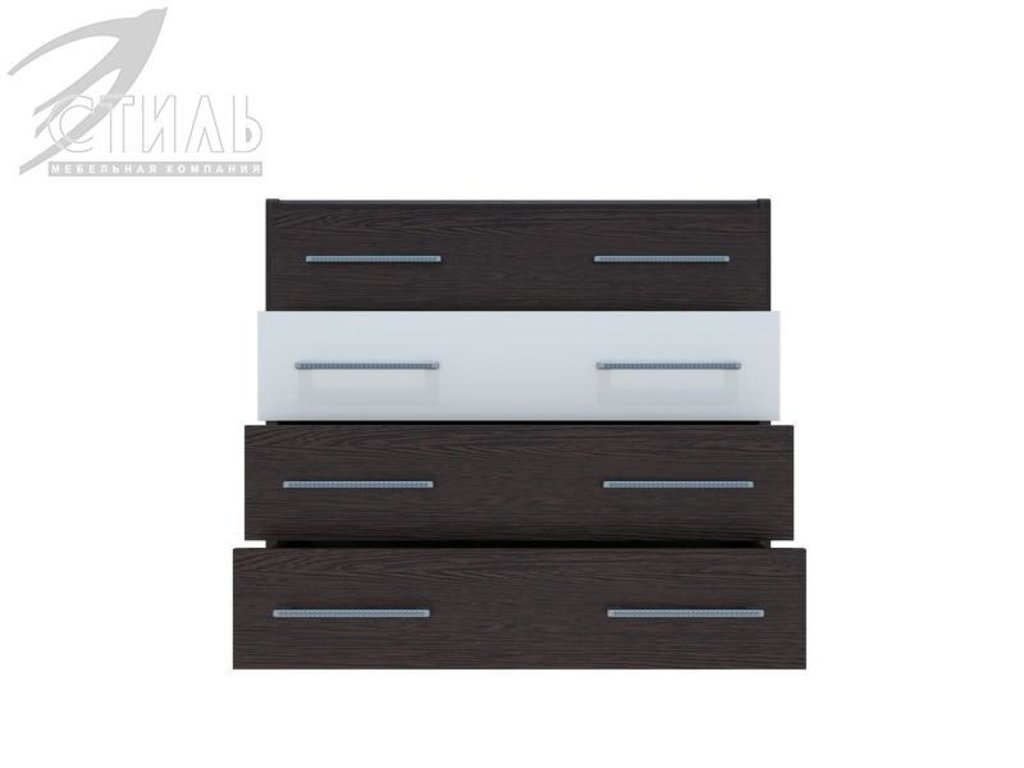 Мебель для спальни Луиза (венге / белый глянец): Комод Луиза (венге / белый глянец) в Диван Плюс
