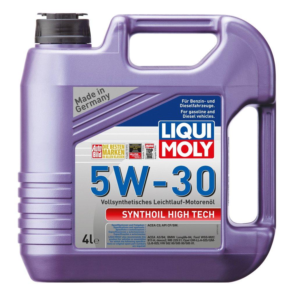 ГСМ: Масло LiquiMoly 5/30 Syntohoil High Tech синтетическое SM/CF C3 4 л в MОТОР