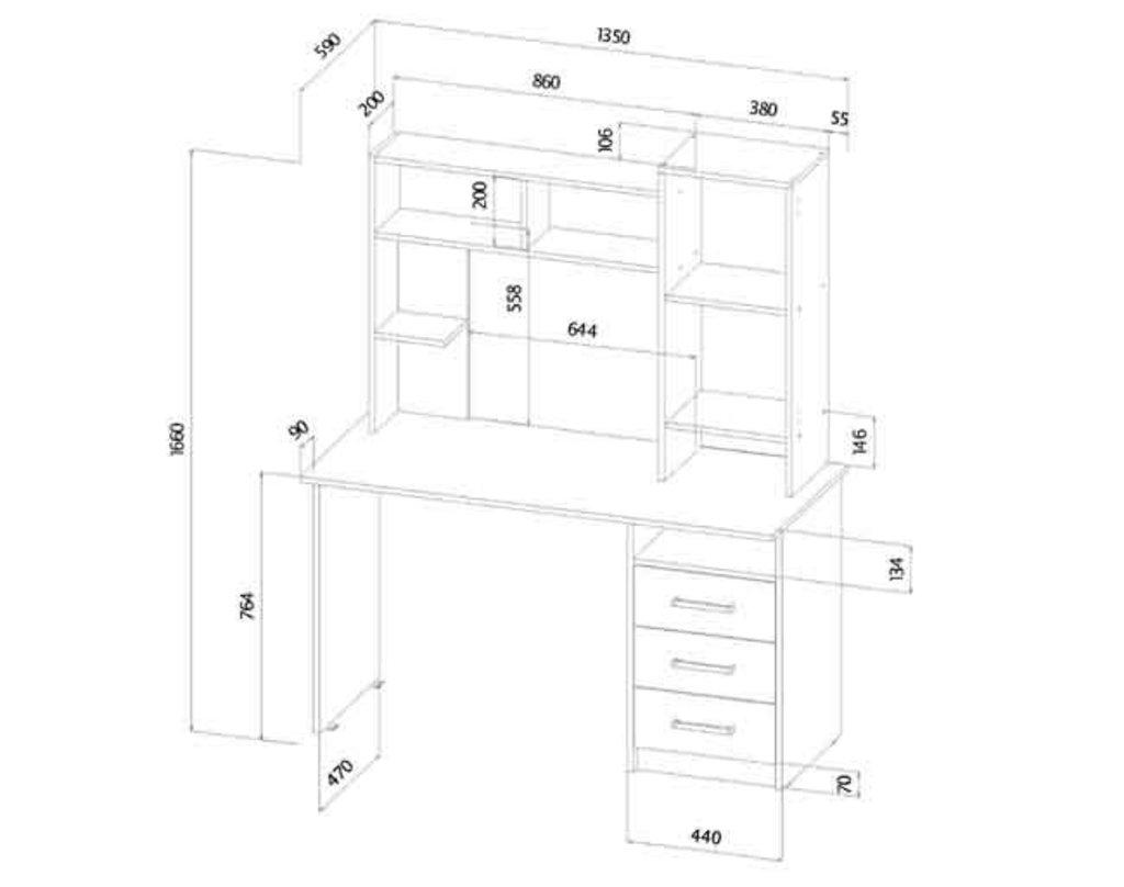 Столы компьютерные: Стол компьютерный Фаворит в Уютный дом