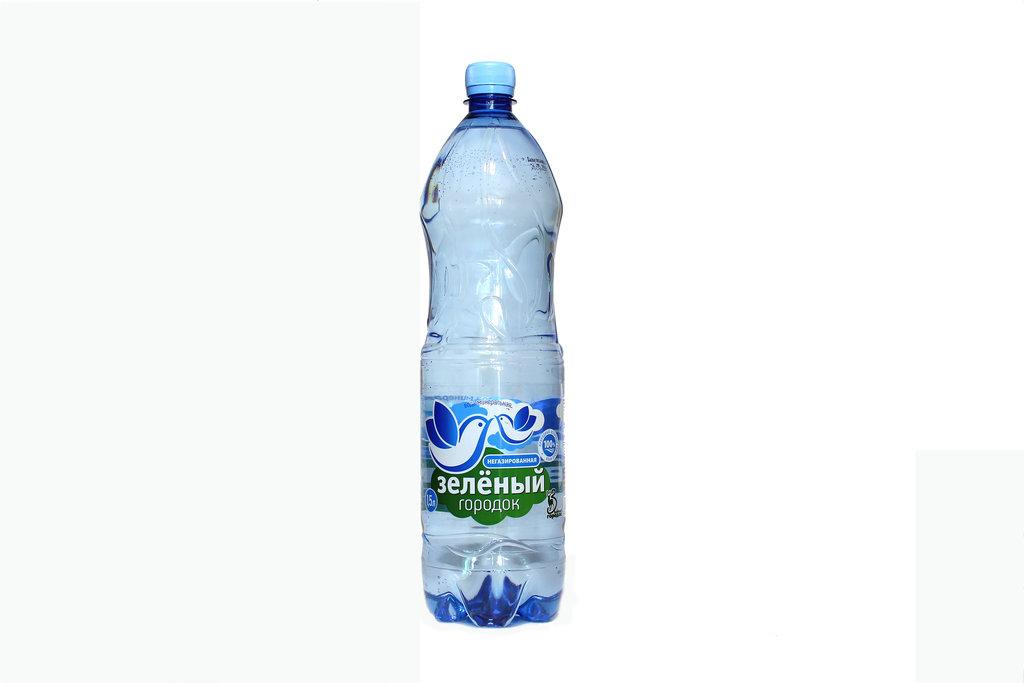 Вода 0,5 - 1,5 л: Зеленый городок 1,5 л. Б/Г в ТСК+, ООО