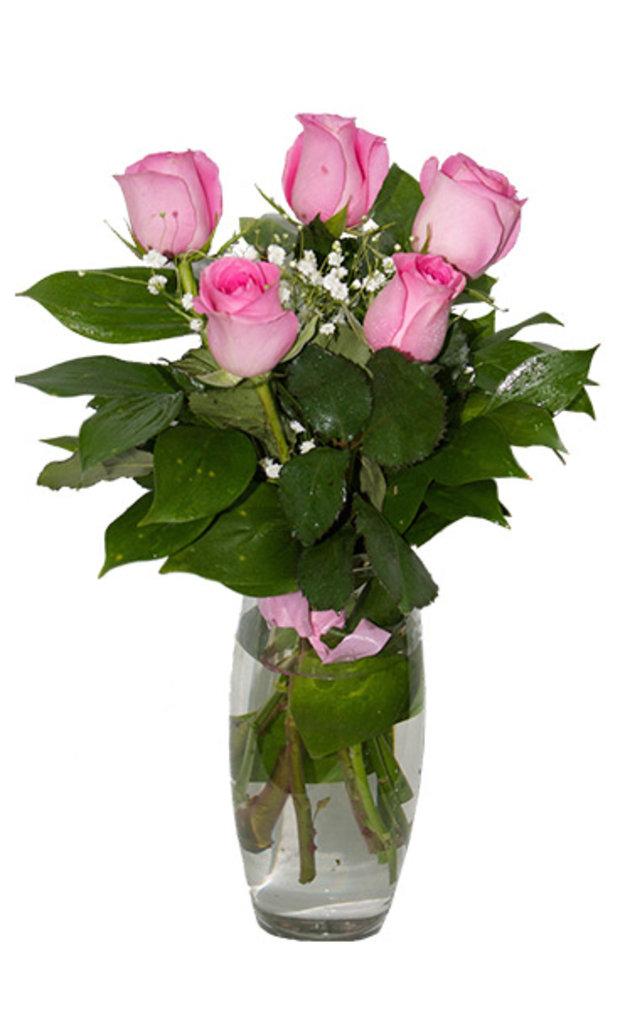 """Букеты и композиции из живых цветов: Букет """"5 роз"""" в Цветы доставка"""