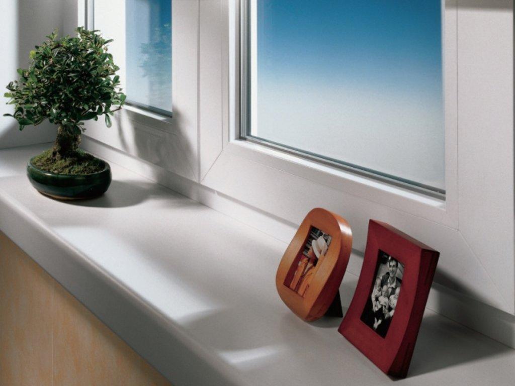 Окна, двери металлопластиковые: Подоконник в 1СК, Первая Стекольная Компания, (ПСК), ООО