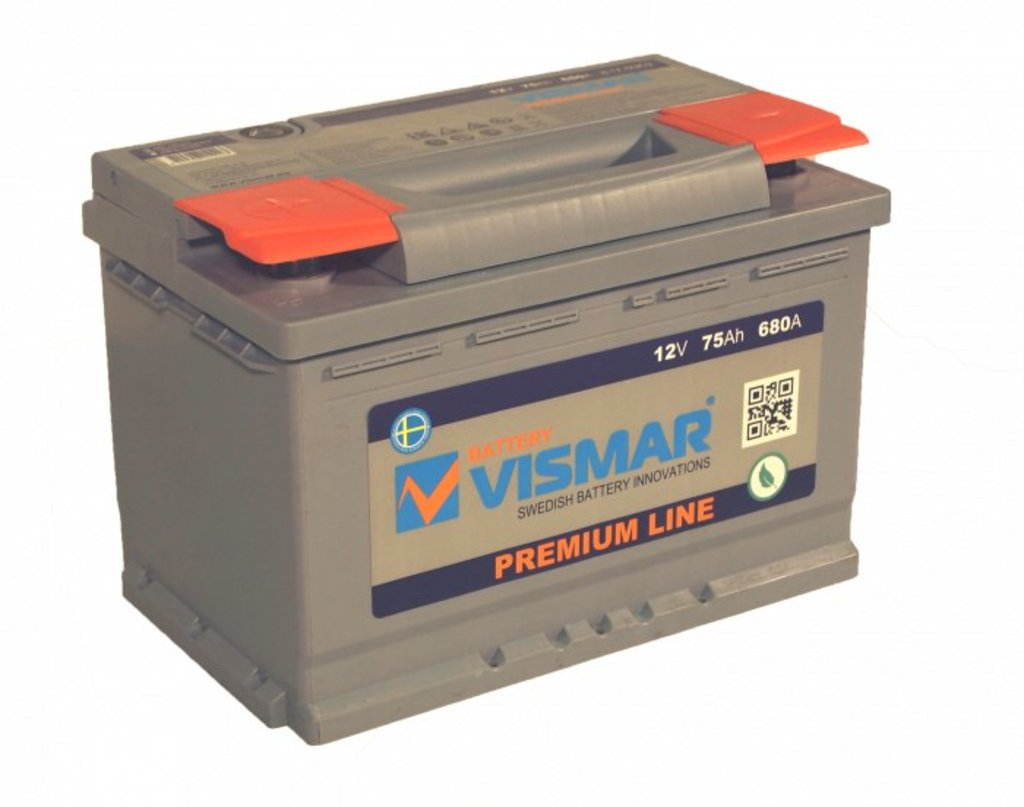 Vismar: АКБ Vismar 75 А/ч Premium Line в БазаАКБ