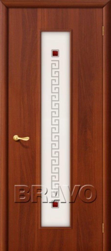 Двери ламинированные BRAVO: 21Х Л-11 (ИталОрех) в STEKLOMASTER