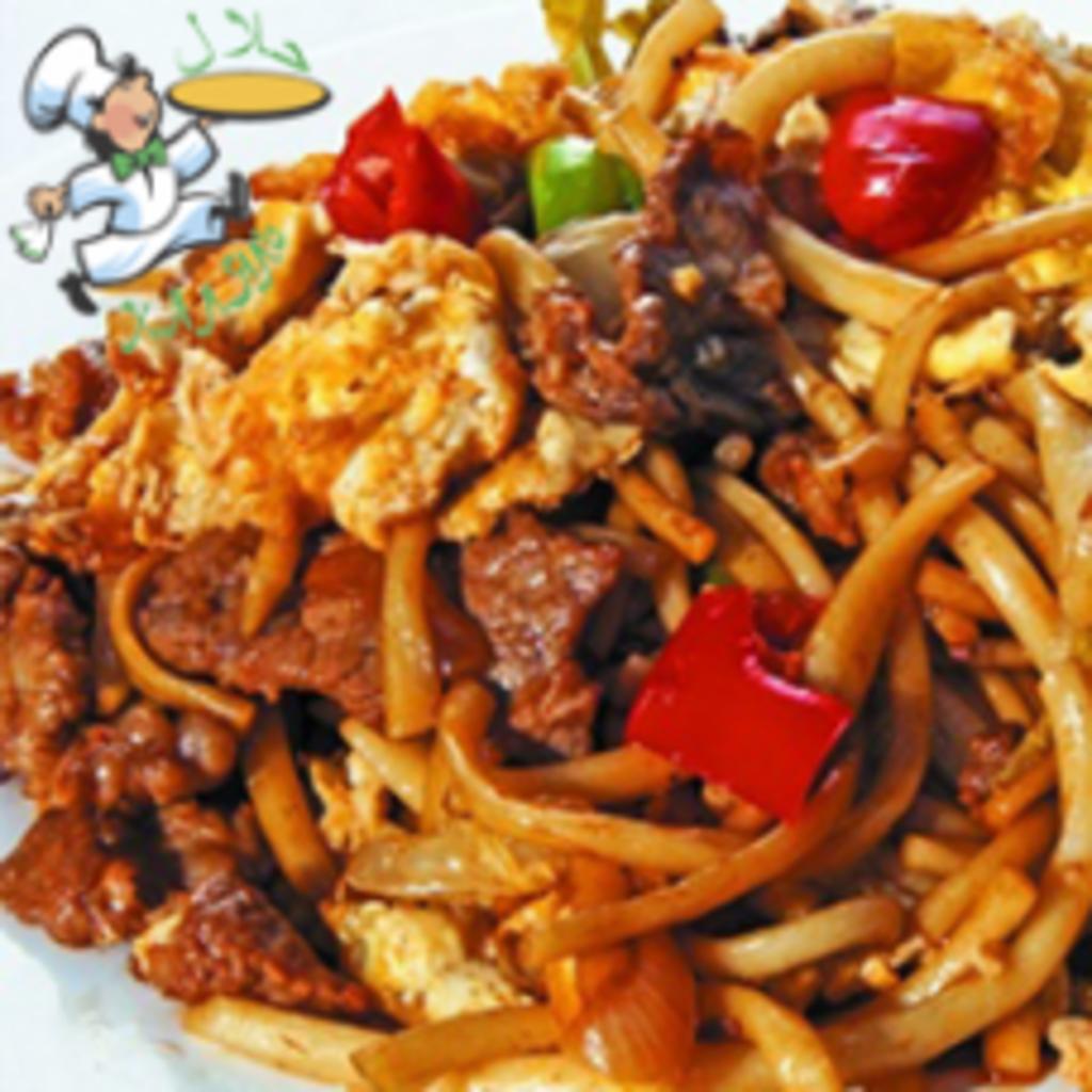 Вторые блюда: Лагман жаренный в Папа-Лаваш, шаурма-центр