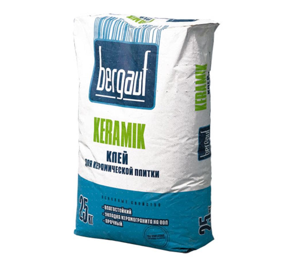 Сухие смеси Бергауф: Клей для керамической и кафельной плитки 25 кг Keramik Bergauf в База строительных материалов ЯИК