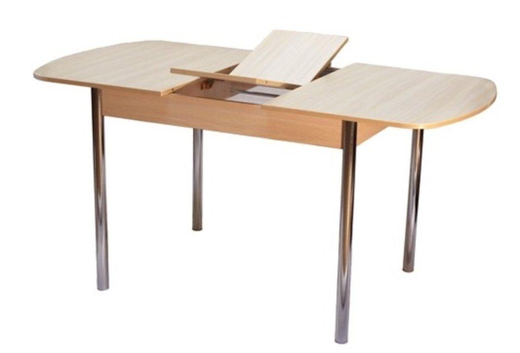 Столы кухонные: Стол ПГ-14 раздвижной с вкладышем (хром) в АРТ-МЕБЕЛЬ НН