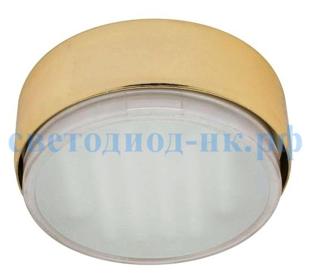 Накладные светильники: Ecola GX53 FT8073 светильник накладной золото 25x82 в СВЕТОВОД