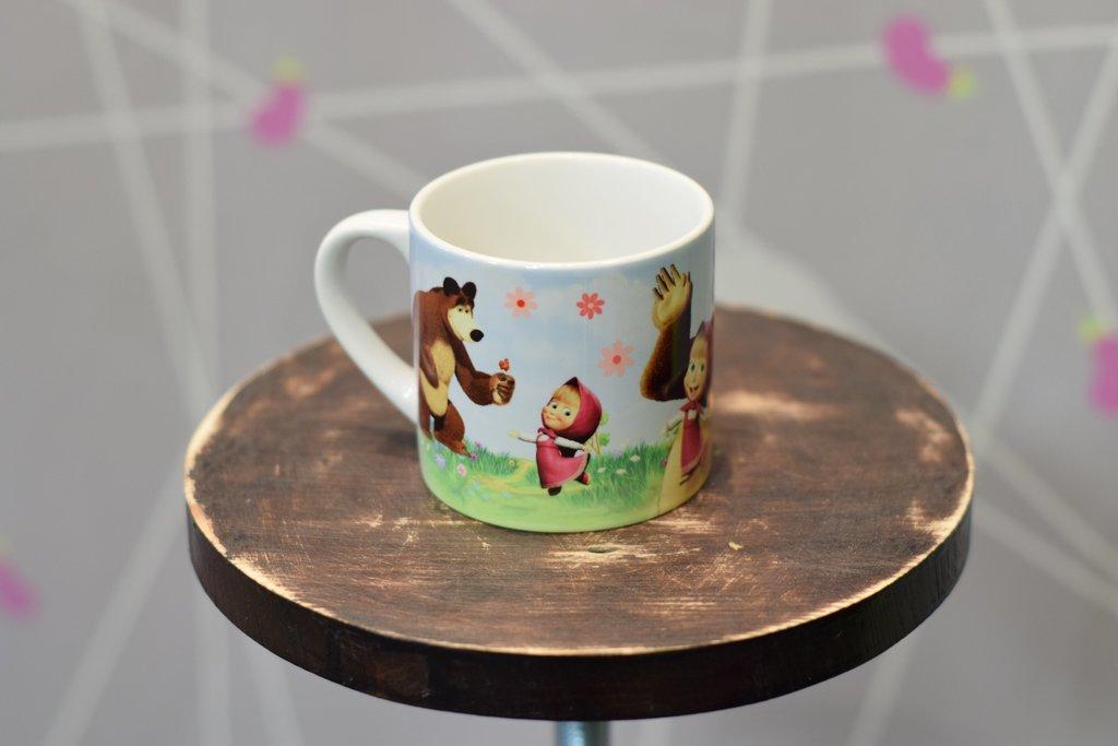 Чашки и кружки: Кружка кофейная керамическая в Баклажан, студия вышивки и дизайна