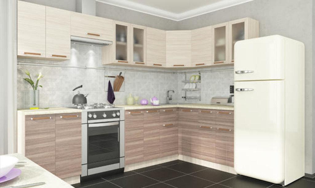 Мебель для кухни модульная серия Прага: Шкаф витрина 600. Кухня Прага в Уютный дом