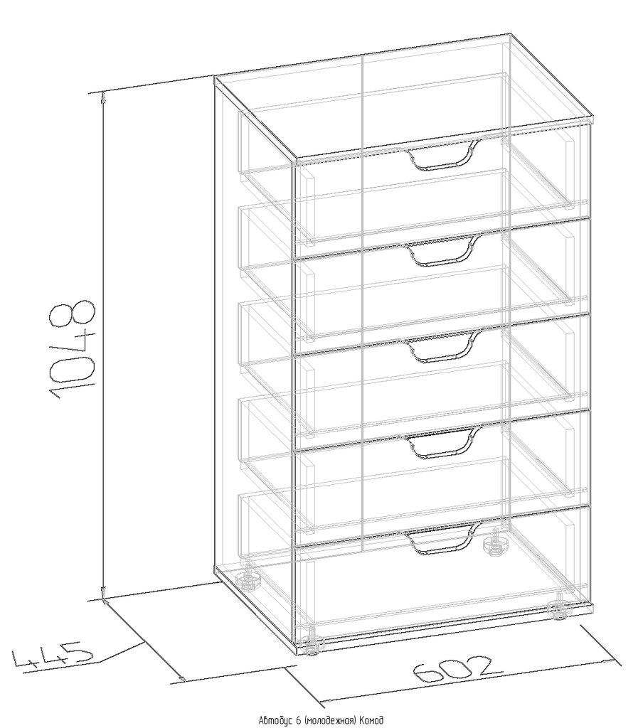 Комоды детские: Комод Автобус 6 в Стильная мебель
