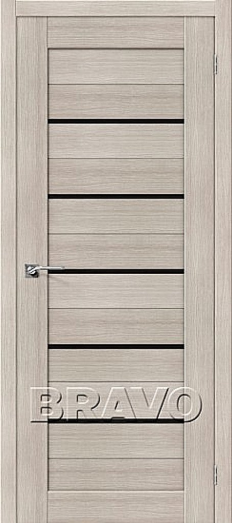 Двери экошпон BRAVO: Порта-22Т Cappuccino Veralinga в STEKLOMASTER
