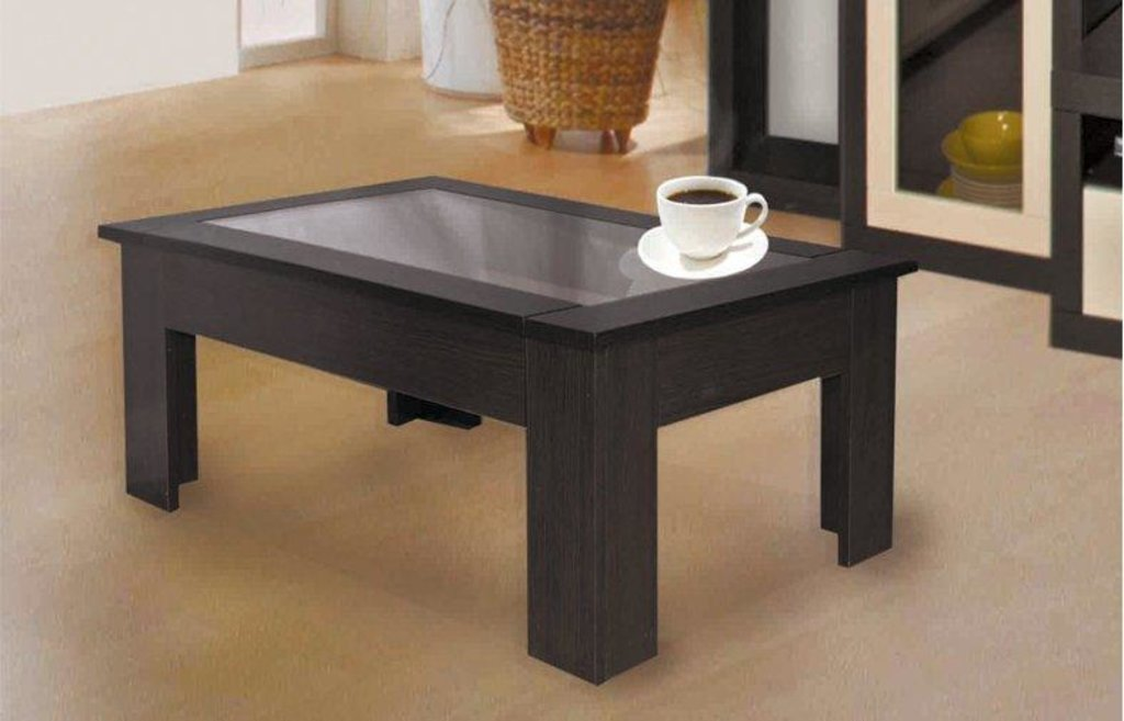 Столы журнальные: Журнальный столик Маджеста - 8 со стеклом в Vesa