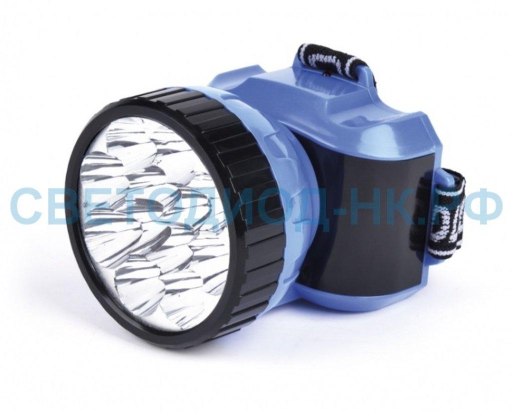 Светодиодные фонари, пушлайты: Фонарь Smartbuy налобный аккум. 12 LED синий в СВЕТОВОД