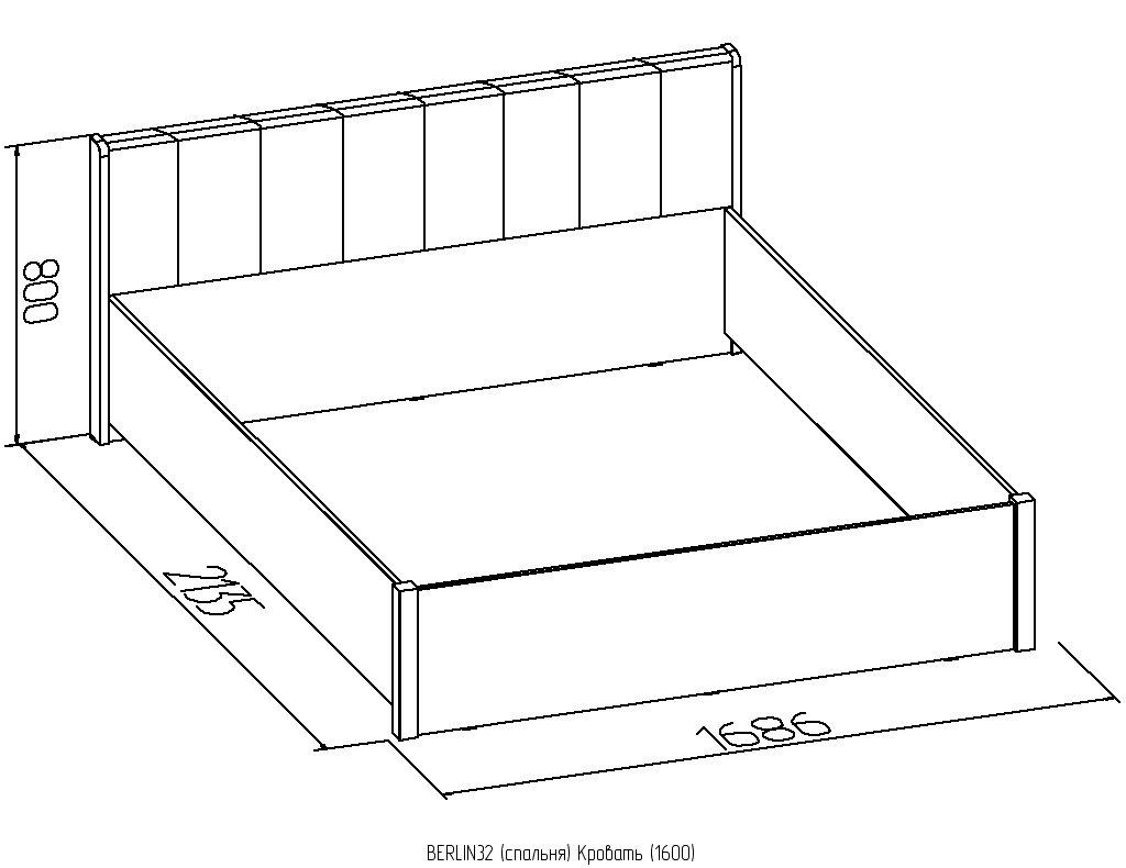 Кровати: Кровать (1600) Металл BERLIN 32 в Стильная мебель